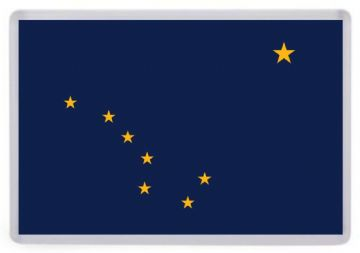 Alaska State Flag Fridge Magnet. USA